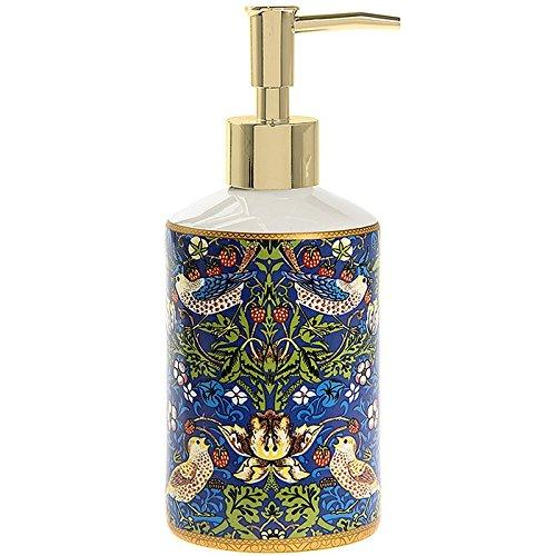 Lesser & Pavey William Morris Blue Strawberry Thief Birds Pumpe Seifenspender Keramik Badezimmer