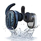 GUORZOM Auriculares Bluetooth Inalámbricos Verdaderos Auriculares Bluetooth Estéreo Auriculares Inalámbricos Bluetooth 4.1, Estuche De Carga 900Mah, 6 Horas De Juego, Micrófono Empotrado, Negro