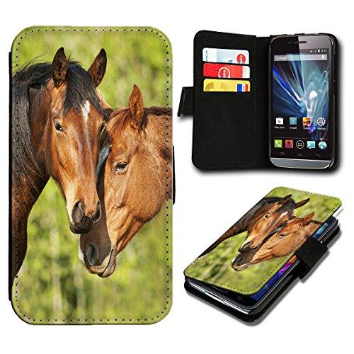 Book Style Wiko Jimmy Premium PU-Leder Tasche Flip Brieftasche Handy Hülle mit Kartenfächer für Wiko Jimmy - Design Flip SB799