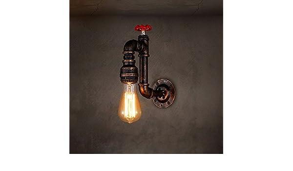 Applique tubo acqua lfnrr loft color ruggine di ferro