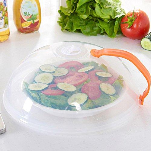 Xinxinyu Mikrowellen-Spritzschutz für Lebensmittel, vielseitig einsetzbar, Abdeckung Orange