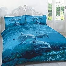 Lujo y moderno 3d delfín edredón edredón y fundas de almohada juego de cama – Panel