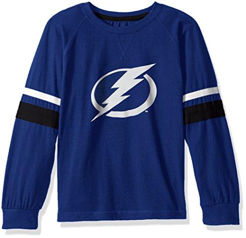 Profile Big & Tall NHL Tampa Bay Lightning Long Sleeve Tee mit doppelter Arm Streifen, klein, Kobalt Blau - Kobalt-blauer Streifen