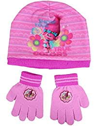 Trolls Sombrero y Guantes Ragazza True Color