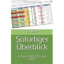 Sofortiger Überblick: in Excel 2010, 2013 und 2016 (kurz & knackig, Band 3)