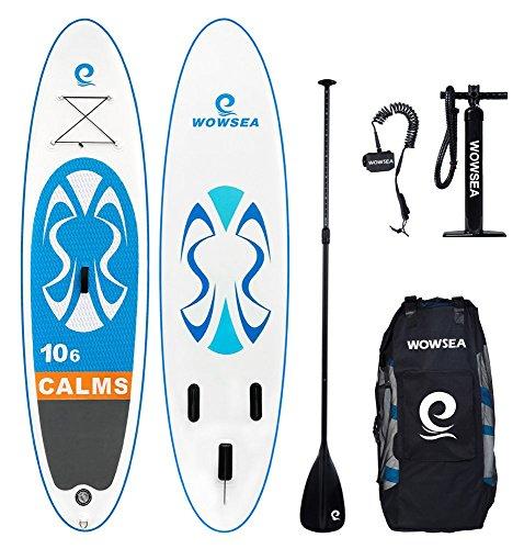 WOWSEA Tabla Hinchable Paddle Surf, 2018 Nuevo Paddle Board Hinchable con Tamaño 320*81*15cm, Carga hasta 135kg - Azul