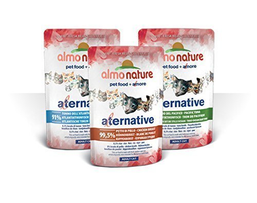 Almo Nature Katzenfutter Neue Aktualisierte Alternative Nassfutter Katze gemischt 10Beutel (Pacific Huhn)