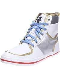 Éclat Striipe - Chaussures Pour Femmes, Couleur Blanc / Argent, Taille 39