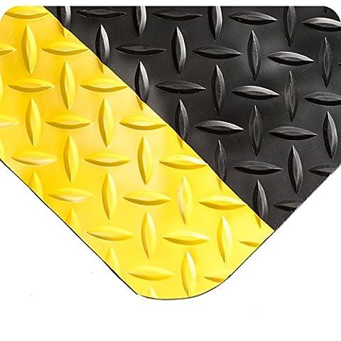 wearwell 495.916x 3x 4byl diamond-plate Select Tapis, 91cm x 122cm, noir/jaune