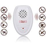 Kepmem 10 Piezas Repelente Insectos Electrico Ultrasonico Seguridad Interior Repeller contra Ratones, Ratas, Moscas, cucarachas, arañas, Mosquitos