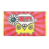 Póster Años 70 - 90 x 150 cm | Bandera de Hippy | Accesorio Fiesta Hippie | Decoración Vendimia VW