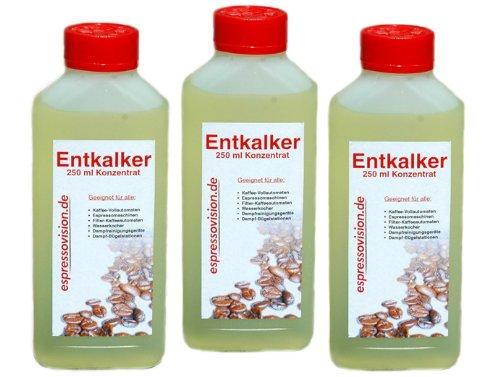 3 x 250ml (750ml) Flüssig Entkalker Konzentrat für Kaffeevollautomaten / Haushaltsgeräte