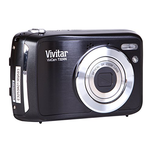 Vivitar VT324 Digitalkamera (12,1 Megapixel CMOS Sensor, 3x opt. Zoom, 5x dig. Zoom, 6,1 cm (2,4 Zoll) Display) schwarz