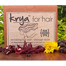 Krya Damage Repair Herbal shampoo powder for weak, chemically damaged, over processed hair- made from 16 rich Ayurvedic herbs that heal & restore health to hair - Sulphate free, Paraben free, Silicone free, Chemical free , All Natural (200 gm)