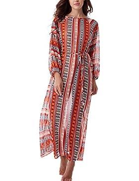 Copricostume Mare Donna Vestito Lungo Estate Boho Hippie Kaftan Tunica Etnica Kimono Abito da Spiaggia per Costumi...