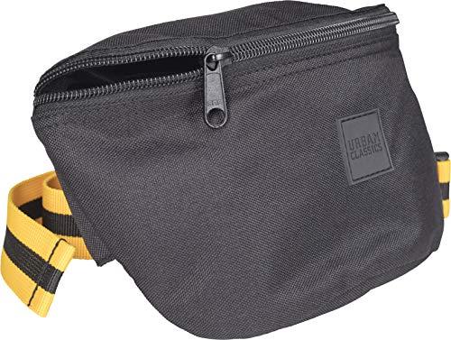 Urban Classics Hip Bag Striped Belt Umhängetasche 24 cm, Blk/Yellow