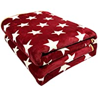 Hot-Bed Plush Heated Throw Blanket–Secure Comfort Technology–Oversized 150Cmx120cm-Big Red-Cozy Soft Microlight Heated Electric Blanket Throw,Full150cm*120Cm