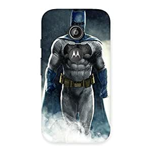 Special Blue Knight Walk Back Case Cover for Moto E 2nd Gen