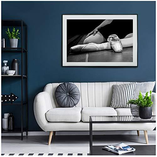 Elegante Tanzschuhe Leinwand Schwarz Weiß Kunstdrucke Gemälde Wandkunst Poster Home Decoration Bilder Für Wohnzimmer Druck auf leinwand-40x60 cm-Kein Rahmen