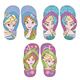 familie24 Frozen Flip Flops Schuhe Slipper Badeschuhe Sandalen WD11072 Die Eiskönigin Anna ELSA Olaf (30, Lila)