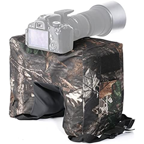 MOVO Foto THB02 camuffamento Camera Lens Bean Bag con integrato giunto cardanico / testa a sfera Attachment- Mossy Oak