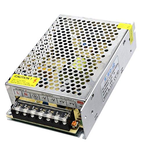 60w 12v Wechselstrom-transformator (LED Laden, 1Pcs hohe Leistung 60W 5A LED schaltende Spg.Versorgungsteil Wechselstrom 110V 220V zum DC12V Energien-Transformator für Rgb führte Streifen-Licht DC 12V (groß))