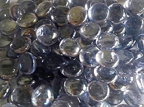 Rund Lila Glas Kieselsteine/Steine/Schmucksteine/Nuggets/Perlen ca. 17–20mm ()