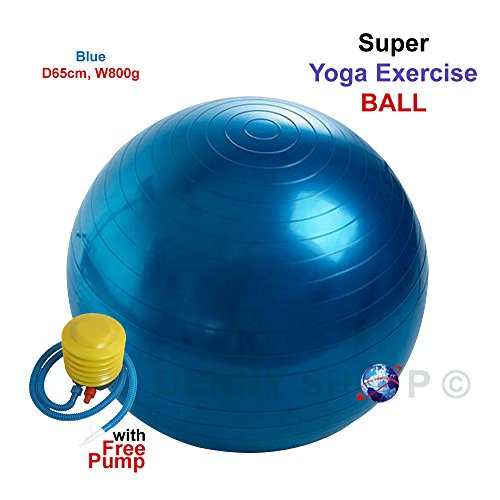 Denny-International-Anti-Burst-Yoga-Gym-Exercise-Ball-Ideal-for-aerobic-pregnancy-Birthing-Fitness-with-Free-Air-Pump-Purple-Purple