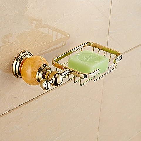 Cesta jabón cuadrado de acero inoxidable, aleación de zinc galvanizado delicado jabón racks, jade Web SOAP