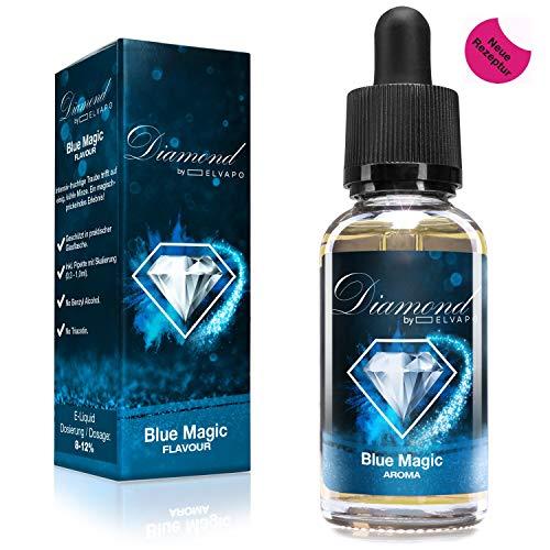 Diamond Aroma für E-Liquids | Blue Magic (NEUE REZREPTUR!)| 30ml | Aromakonzentrat zum Mischen mit Basen | Für E-Zigaretten und E-Shishas | Ohne Nikotin 0,0mg | Made in Germany! Vape Liquid Aroma (Blueberry Shisha)