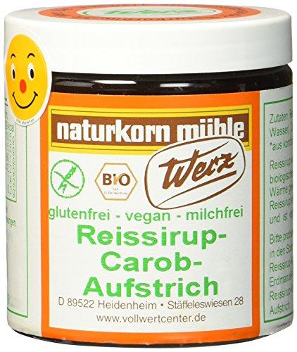 Werz Reissirup-Carob-Aufstrich glutenfrei, 1er Pack (1 x 300 g Dose) - Bio -