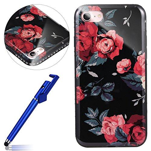 Custodia iphone 8 4.7, Cover iphone 7 Silicone, Copertura iphone 8 Diamond,  MoreChioce