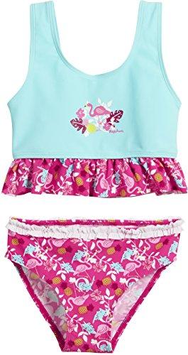 Playshoes Baby-Mädchen Bikinislip UV-Schutz Bikini Flamingo, Türkis (Türkis 15), 86 (Herstellergröße: 86/92)