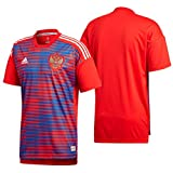 adidas Russia Home Pre Match T-Shirt, All Year, Man, Color Red / Poblue, Extra-Small size