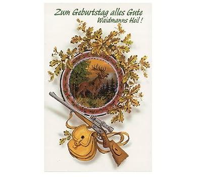 Jagd Geburtstagskarte - Glückwunschkarte Mod. 5