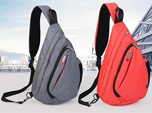 Nuovo grande capacità petto Pack versione coreana maschio di aumento di pacchetti di gocce all'aperto il borsa borsa a tracolla in tessuto impermeabile , blue increase orange red