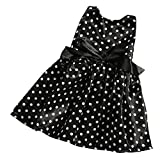 MagiDeal Robe Noire Sans Manches avec Points Blancs Décoration pour 18'' Fille Américaine Poupée Dolls Accessoires