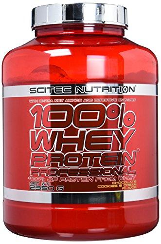 Scitec Nutrition Protein 100{a1384b104828a57d6dccafc88049cdc6512c204272ad96fb9187b4ea7369b6d1} Whey Protein Professional, Schoko-Cookies und Cream, 2350g