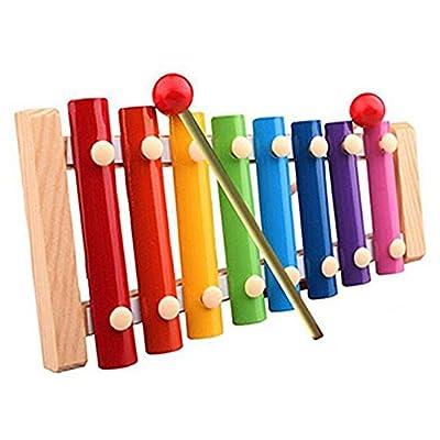 Highdas bebé Los primeros juguetes educativos musicales, Niños Juguetes Musicales xilófono Desarrollo sabiduría instrumento de madera por Highdas network technology Co., Ltd