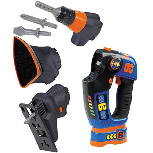 Preisvergleich Produktbild Bob der Baumeister eVo 3in1 Multifunktionswerkzeug mit Funktionen, elektronisch - Kinder Werkbank-Werkzeuge Handwerker Spielzeug Bohrer Akkuschrauber Stichsäge Schleifer