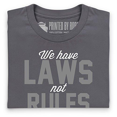 Laws Not Rules T-Shirt, Herren Anthrazit