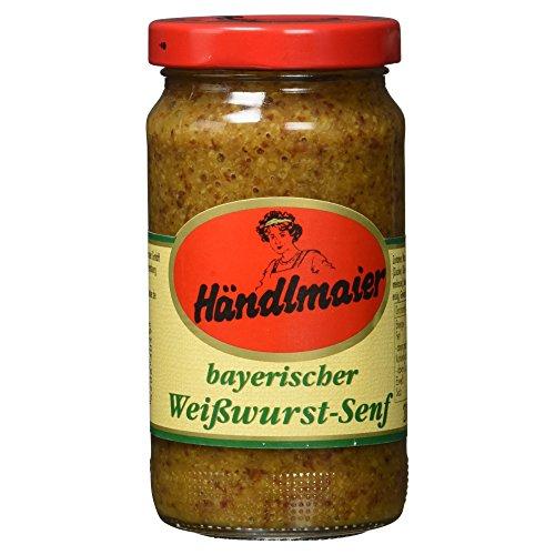 Händlmaier Bayerischer Weißwurstsenf Glas, 200 ml (Zucker Glas Brauner)
