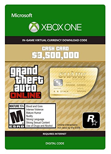 Grand Theft Auto Online | GTA V Whale Shark Cash Card | 3,500,000 GTA-Dollars | Xbox One Download Code