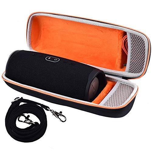 Tasche für JBL Charge 4 Tragbarer Bluetooth-Lautsprecher & Kabel + Zubehör - Schwarz -