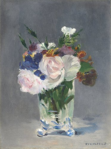 Spiffing Prints Edouard Manet - Flowers in a Crystal Vase Edouard Manet c1882 - Extra Large - Matte Print Bella Crystal Vase