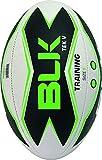 BLK - TEK V - Ballon de Rugby - Spécial Matches - Cousu main - blanc/noir/vert fluo