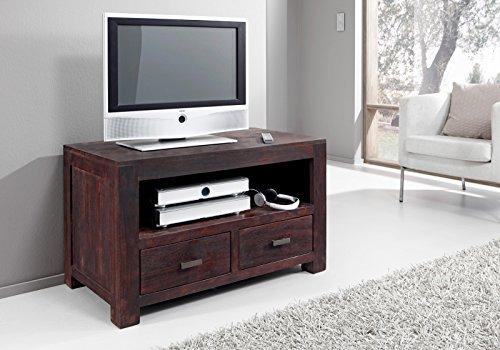 SAM® Longboard Timber 6646 aus Akazienholz, Sideboard tabakfarben, massiv, 2 Schubladen, 2 große Ablageflächen, viel Stauraum