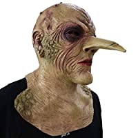 BIUYYY Grand Witch with Giant Nose Mask Halloween Fancy Dress Latex Costume Cosplay Props, One Size