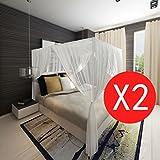 WEILANDEAL Fliegengitter Bett Kopf rechteckig Hat Aufhängen 2pcsquantite: 2Fliegengitter für Bett