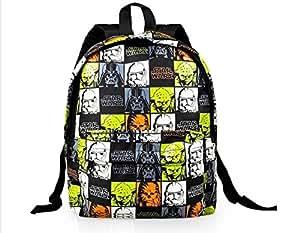 DI GRAZIA Cartoon Star Wars Children's Small Character Backpack, Nursery Kids School Play Bag - Black